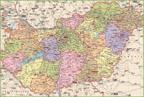 maps with towns large detailed map of hungary with cities