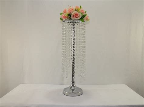 Table Chandelier Centerpieces Wedding Table Centerpiece Wedding Pillar Centerpiece Chandelier Wedding Flower