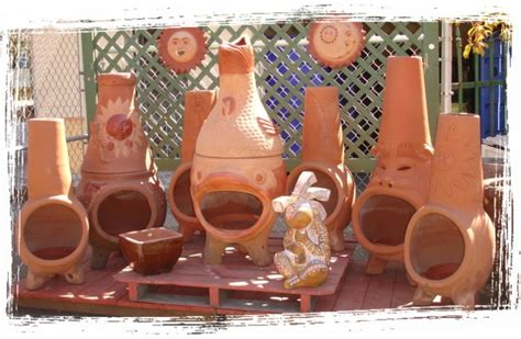 Tabletop Clay Chiminea Baja Chimney Baja Finest Terra Cotta Fireplace