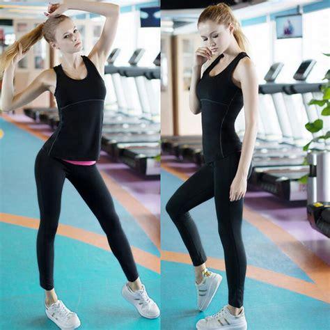 tutorial olahraga yoga baju training olahraga gym wanita quick dry size l black