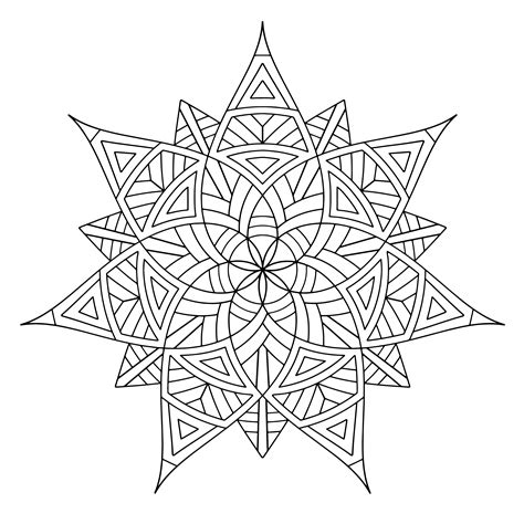 Coloring Pages Design free printable geometric coloring pages for