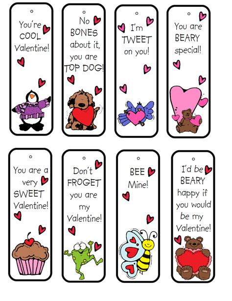 printable bookmarks for elementary students 15 free valentine s day bookmark printables