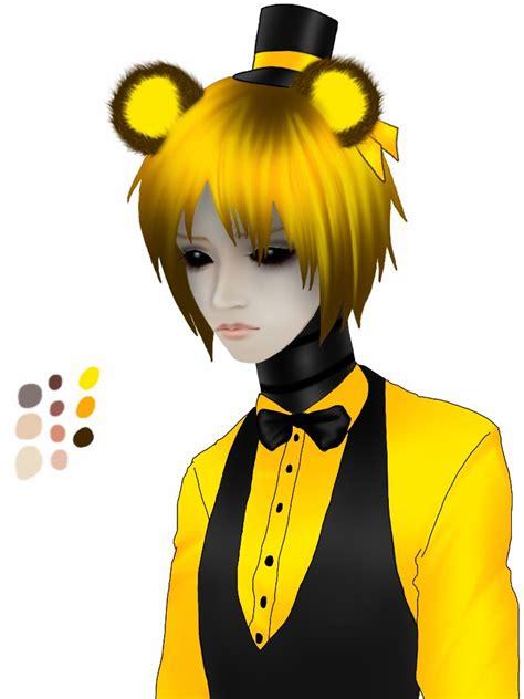 golden anime human freddy fnaf golden freddy by halo91 on deviantart