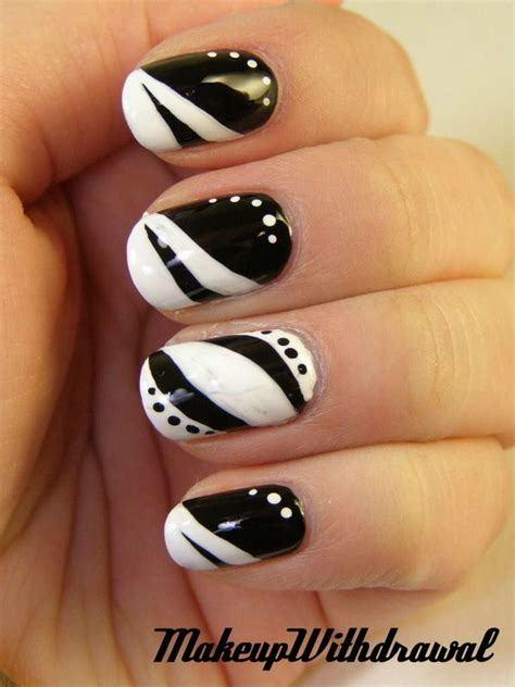 white and black pattern nails black and white nail art designs perfect match for any