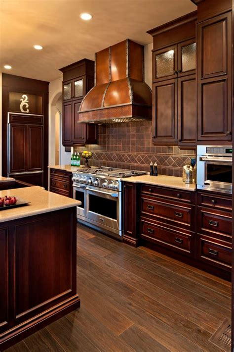copper tile backsplash kitchen contemporary with accent
