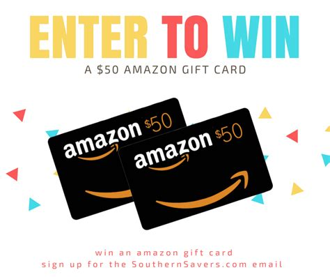 Amazon Gift Card By Email - amazon gift card giveaway email giveaway winners southern savers