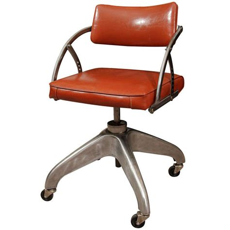 Office Chairs Industrial Machine Age Steel And Vinyl Industrial Office Chair At 1stdibs