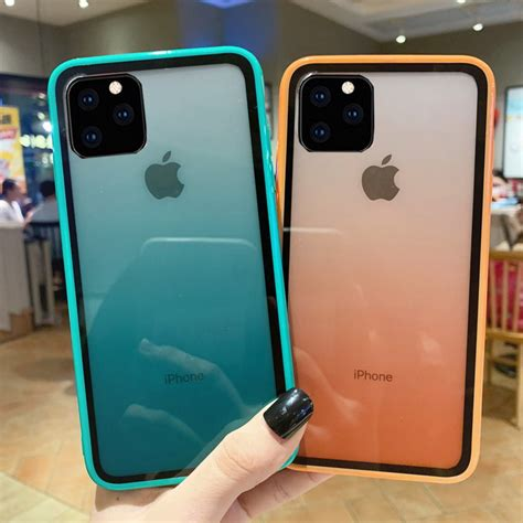 iphone  pro max xs xr   gradient tempered glass