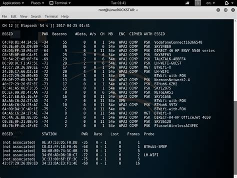 tutorial on hacking with kali linux scanning for wireless access point information using