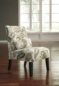 Modern Accent Chairs For Living Room Zoe Paisley Accent Chair Armless Modern Contemporary