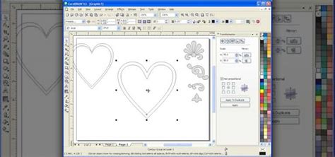 tutorial corel draw x3 how to use the interactive contour tool in corel draw x3