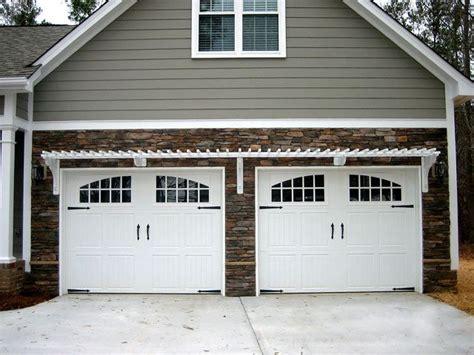 double car  door garage door design garage pergola