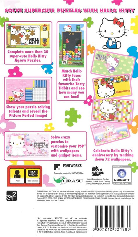 hello kitty themes psp hello kitty puzzle party 2009 psp box cover art mobygames