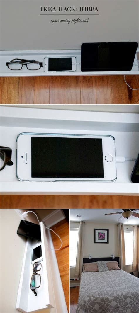 ikea picture ledge hack a ribba picture ledge can make an ideal charging station right next to your bed ikea decora