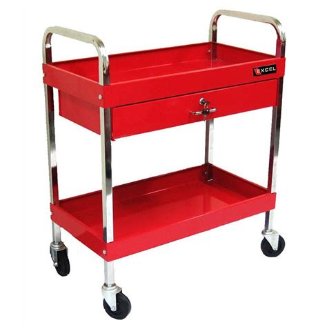 excel 30 in 1 drawer steel tool cart in tc303d