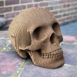 Cardboard Skull Template by Build It Yourself Laser Cut Cardboard Human Skulls