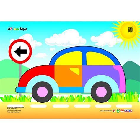 Atham Toys Puzzle Gambar Belalang jual atham toys puzzle stiker gambar mobil harga