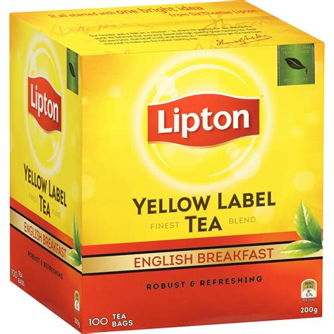 Teh Lipton Yellow Label Tea lipton yellow label tea bags breakfast 100pk 200g