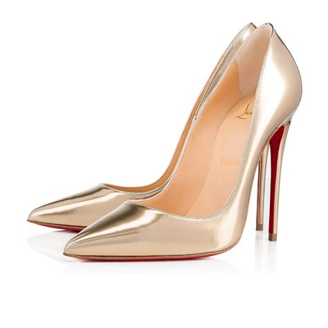 Shoes Christian Louboutin Luxury Gold Po20 christian louboutin so kate 120 light gold specchio laminato shoes modesens