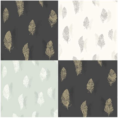 Wallpaper Sticker 10m Merah Soft Putih holden decor beautiful quill feather wallpaper in soft teal or charcoal ebay
