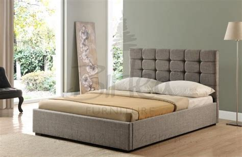 Upholstered Ottoman Bed Birlea 6ft King Size Grey Upholstered Fabric Ottoman Bed Frame By Birlea