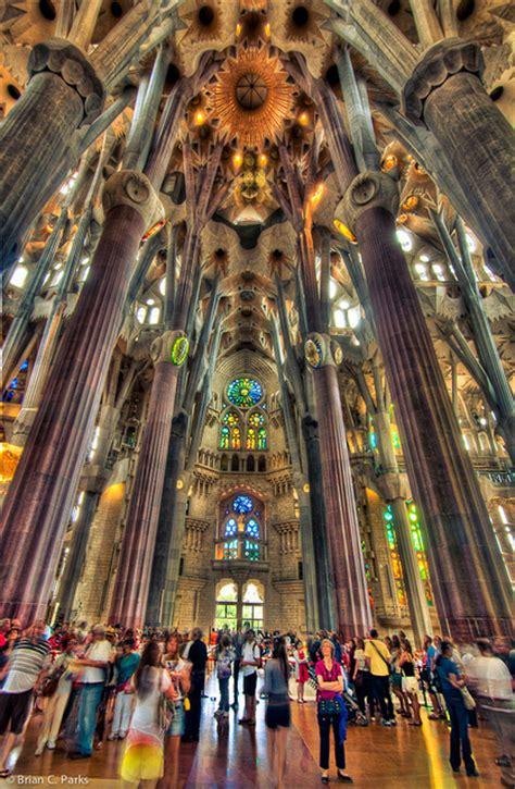 Interior Sagrada Familia by La Sagrada Familia Interior In Barcelona Spain Flickr