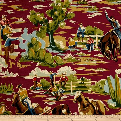 western upholstery fabric cowboy braemore ride em cowboy chili discount designer fabric