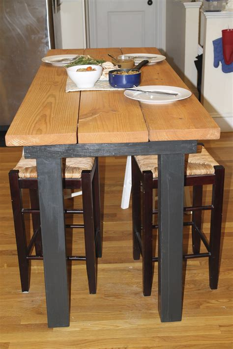 how to make a desk taller plans to build how to make a bar height kitchen table pdf