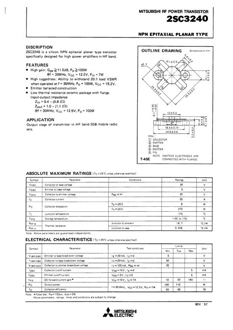 datasheet transistor rf datasheet transistor rf 2001 28 images mrf555 datasheet rf low power transistor npn silicon