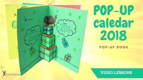 pop design uk calendar how to make a 2018 calendar calendar pop up book easy diy