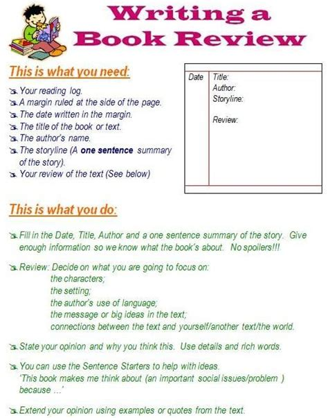 31 Best Images About Book Review Template On Pinterest Anchor Charts Work On Writing And Any Book Template For Writing A Children S Book