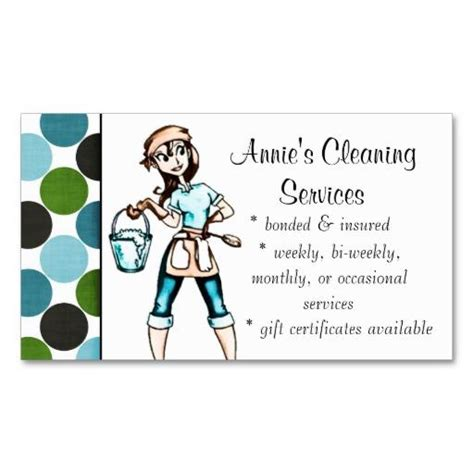 maids and cleaning service business card templates