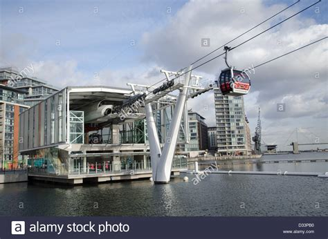 emirates royal docks the emirates air line cable car station at royal docks in