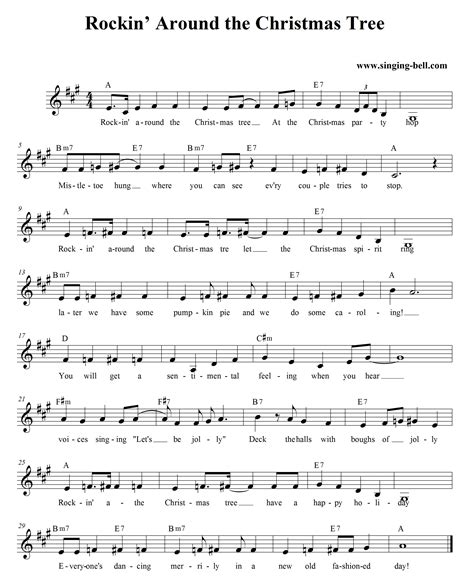 rockin around the christmas tree alto sax music sheet free