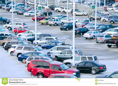busy packed parking lot stock images image