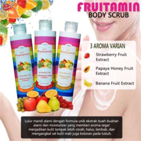 Lulur Badan Fruitamin Bpom Scrub Fruitamin Diskon lulur fruitamin bpom supplier kosmetik agen kosmetik