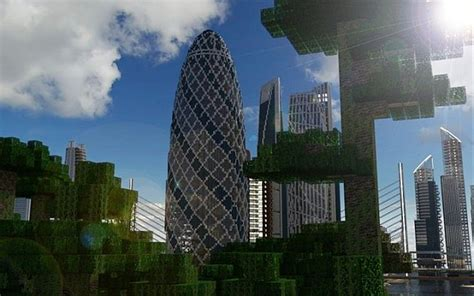 Curved Wall 30 st mary axe the gherkin minecraft project