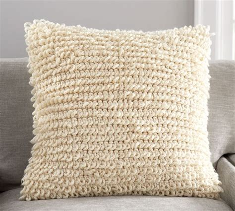 Free Knitting Patterns For Cushion Covers Uk Loopy Knit Pillow Cover Pottery Barn