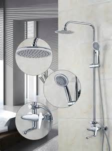 Bathroom Fixture Sets Contemporary Chrome A Grade Abs Shower Faucet Bathroom Bath Shower Faucet Set Mixer Shower