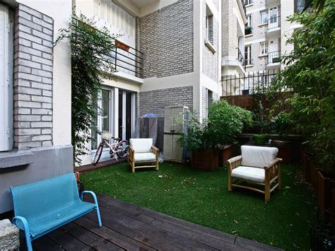 appartement jardin dans immeuble art deco  vendre paris
