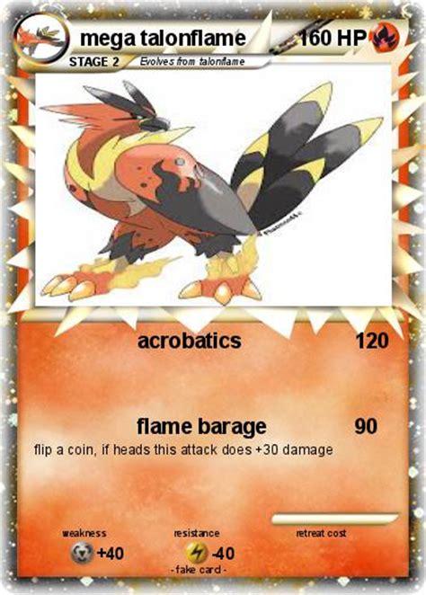 pokemon coloring pages talonflame pok 233 mon mega talonflame acrobatics my pokemon card