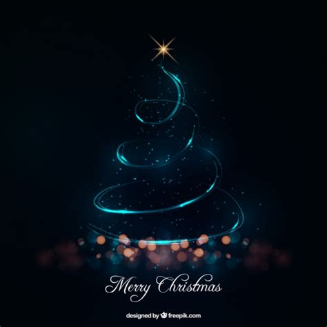 abstract christmas tree made of lights vector free download