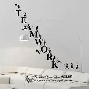 team work spirit office company wall stickers vinyl decal my business story the wall sticker co the pulse australia