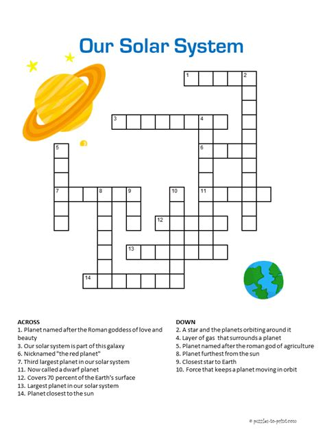 printable word search solar system our solar system crossword
