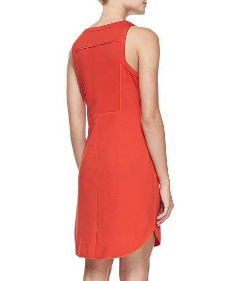 Mima Dress mima knit crewneck zip front dress