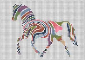 rainbow horse cross stitch pattern by motherbeedesigns
