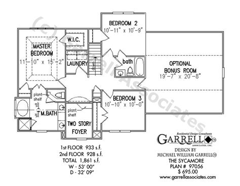 sycamore floor plan sycamore house plan house plans by garrell associates inc