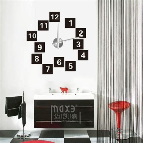Home Construction And Decoration by Home Decoration 3d Eva Wall Sticker Diy Wall Clock