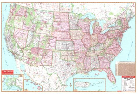 distance map usa united states 77x54 lam w rails universalmap wall