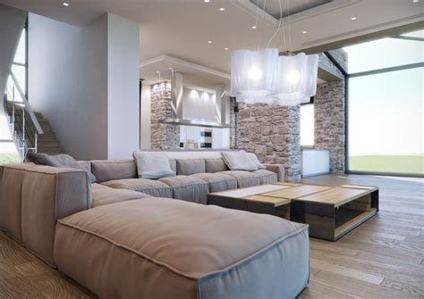 neutral palette living room contemporary living room with soft neutral palette large modular sofa and textured wall
